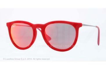 Ray-Ban ERIKA RB4171 Single Vision Prescription Sunglasses RB4171-60766Q-54 - Lens Diameter 54 mm, Frame Color Red Velvet