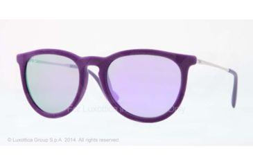 Ray-Ban ERIKA RB4171 Single Vision Prescription Sunglasses RB4171-60804V-54 - Lens Diameter 54 mm, Frame Color Velvet Violet