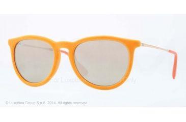 Ray-Ban ERIKA RB4171 Single Vision Prescription Sunglasses RB4171-60835A-54 - Lens Diameter 54 mm, Frame Color Yellow Velvet