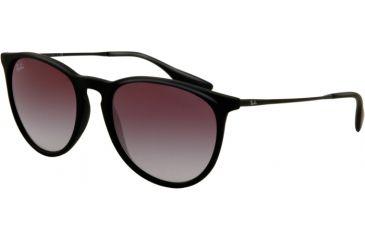 Ray-Ban ERIKA RB4171 Single Vision Prescription Sunglasses RB4171-622-8G-5418 - Lens Diameter 54 mm, Frame Color Black Rubber