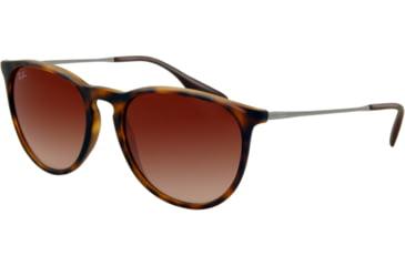 Ray-Ban ERIKA RB4171 Single Vision Prescription Sunglasses RB4171-865-13-5418 - Lens Diameter 54 mm, Frame Color Rubber Havana