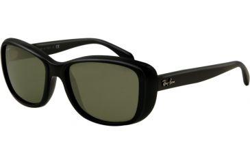 Ray-Ban RB4174 Sunglasses 601-5617 - Shiny Black Frame, Crystal Green Lenses