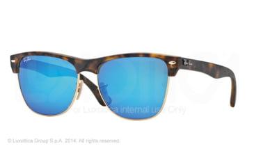 Ray-Ban RB4175 Sunglasses 609217-57 - Matte Havana Frame, Grey Mirror Blue Lenses