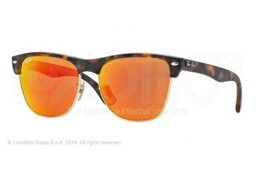 Ray-Ban RB4175 Sunglasses 609269-57 - Matte Havana Frame, Brown Mirror Pink Lenses
