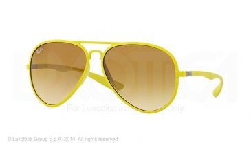 Ray-Ban RB4180 Sunglasses 60852L-58 - Metallized Yellow Frame, Yellow Gradient Brown Lenses