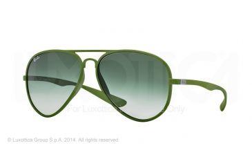Ray-Ban RB4180 Progressive Prescription Sunglasses RB4180-60868E-58 - Lens Diameter 58 mm, Frame Color Metallized Green
