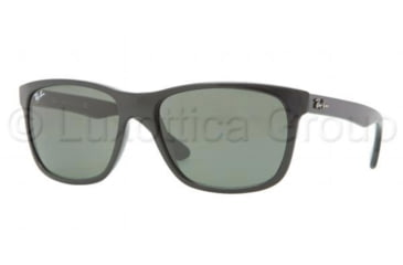 Ray-Ban RB4181 Sunglasses 601-5716 - Black Frame, Crystal Green Lenses