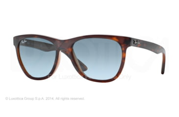 Ray-Ban RB4184 Sunglasses 61014M-54 - Top Havana On Trasparent Brown Frame, Blue Gradient Grey Lenses