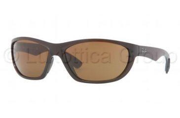 Ray-Ban RB4188 Single Vision Prescription Sunglasses RB4188-600773-63 - Lens Diameter 63 mm, Frame Color Shiny Brown