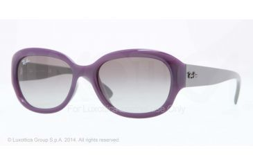 Ray-Ban RB4198 Sunglasses 604671-55 - Opal Violet Frame, Grey Gradient Lenses