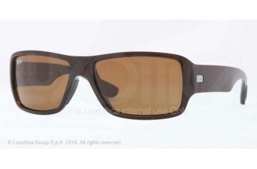 Ray-Ban RB4199 Sunglasses 714/73-61 - Shiny Brown Frame, Brown Lenses