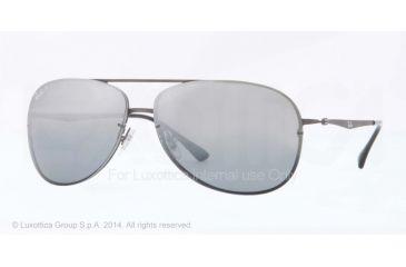 Ray-Ban RB8052 Sunglasses 154/82-61 - Sand Dark Gunmetal Frame, Grey Mirror Grad Silver Polar Lenses