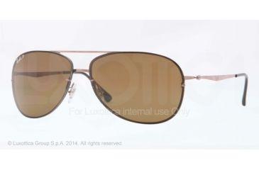 Ray-Ban RB8052 Sunglasses 158/83-61 - Brown Frame, Polar Brown Lenses