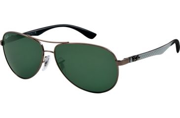 Ray-Ban RB8313 Sunglasses 004-5813 - Gunmetal Frame, Crystal Gray Lenses