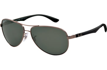 Ray-Ban RB8313 Sunglasses 004/N5-6113 - Gunmetal Frame, Polarized Grey Lenses