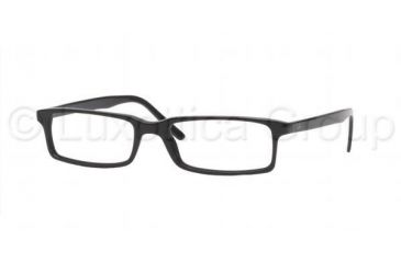 Ray-Ban RX 5095 Eyeglasses Styles - Shiny Black Frame w/Non-Rx 50 mm Diameter Lenses, 2000-5016