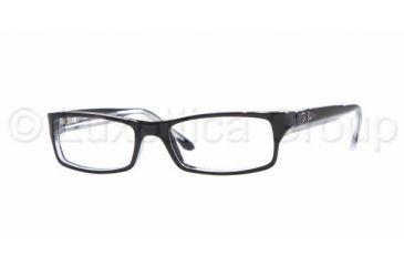 b3bc2a8582d Ray-Ban RX5114 Progressive Eyeglasses - Top Black On Transparent Frame   52  mm Prescription