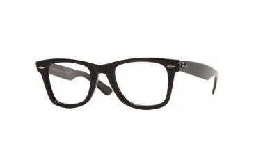 Ray-Ban RX 5121 Eyeglasses Styles - Shiny Black Frame w/Non-Rx 50 mm Diameter Lenses, 2000-5022