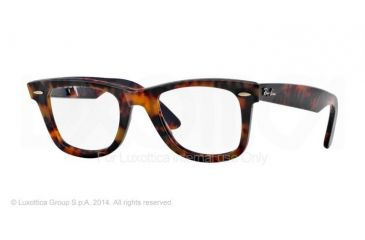 Ray-Ban RX 5121 Eyeglasses Styles - Yellow Havana Frame w/Non-Rx 47 mm Diameter Lenses, 2291-4722