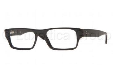 Ray-Ban RX 5122 Eyeglasses Styles - Shiny Black Frame w/Non-Rx 50 mm Diameter Lenses, 2000-5017