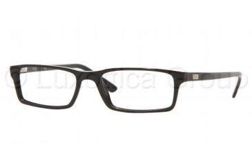 Ray Ban RX 5123 Eyeglasses, Shiny Black Frame w/Non Rx 52 mm Diameter Lenses, 2000 5216