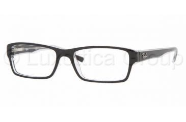 ec91bff132 Ray-Ban RX5169 Progressive Eyeglasses - Top Black On Transpare Demo Lens  Frame   52