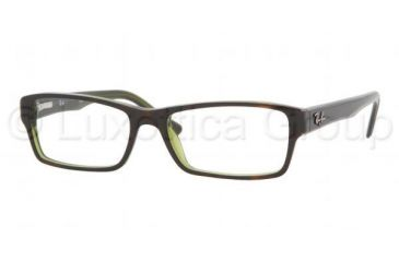 Ray-Ban RX5169 SV Prescription Eyeglasses - Top Havana On Green Tr Demo Lens Frame / 52 mm Prescription Lenses, 2383-5216