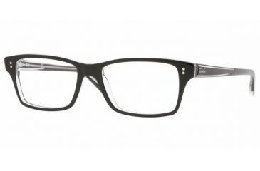 aa58af810cd Ray-Ban RX 5225 Eyeglasses Styles - Top Black On Transparent Frame w Non