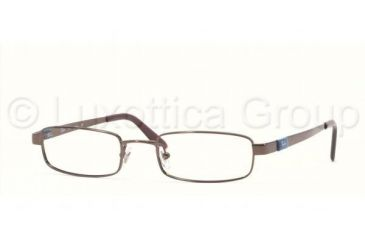 Ray-Ban RX 6076 Eyeglasses Styles - Brown Frame w/Non-Rx 49 mm Diameter Lenses, 2511-4919