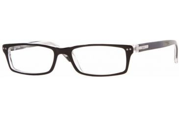 5e98ea62754 Ray-Ban RX5113 SV Prescription Eyeglasses - Top Black On Transparent Frame  w  52