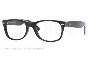 Ray-Ban RX5184F Single Vision Prescription Eyeglasses 2000-52 - Shiny Black Frame