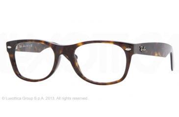 Ray-Ban RX5184F Single Vision Prescription Eyeglasses 2012-52 - Dark Havana Frame
