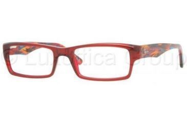 Ray-Ban RX5213 Bifocal Prescription Eyeglasses 5007-5218 - Dark Red