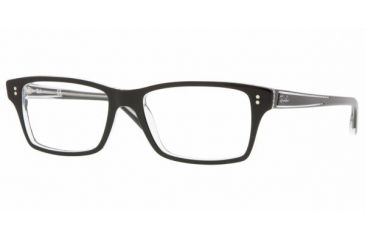 Ray Ban RX5225 #2034 - Top Black On Transparent Frame, Demo Lens Lenses