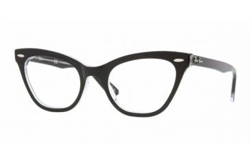 Ray Ban RX5226 #2034 - Top Black On Transparent Frame, Demo Lens Lenses