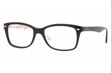 Ray Ban RX5228 #5014 - Top Black On Texture White Frame, Demo Lens Lenses