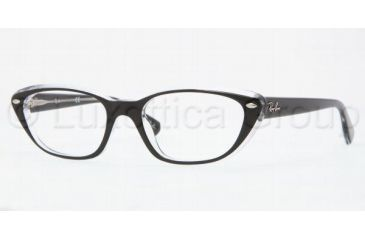 Ray-Ban RX5242 Single Vision Prescription Eyewear 2034-5118 - Top Black On Transpare