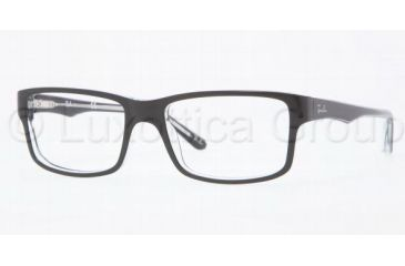 Ray-Ban RX5245 Progressive Prescription Eyeglasses 2034-5217 - Top Black On Transpare