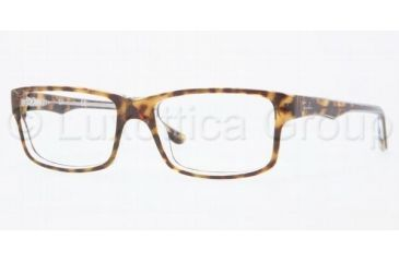 Ray-Ban RX5245 Progressive Prescription Eyeglasses 5082-5217 - Top Havana On Transpar