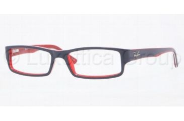 Ray-Ban RX5246 Progressive Prescription Eyeglasses 5088-4816 - Blue On Red/White/Red