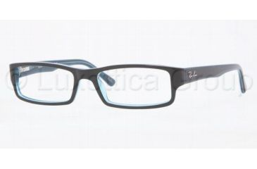 Ray-Ban RX5246 Progressive Prescription Eyeglasses 5092-4816 - Turquo On Turquo/Gray/
