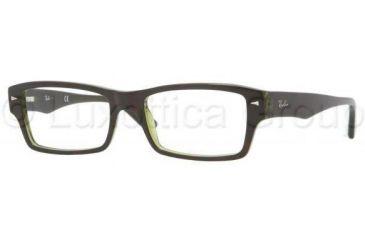 Ray-Ban RX5254 Single Vision Prescription Eyeglasses 2383-5418 - Top Havana On Green Transparent Frame
