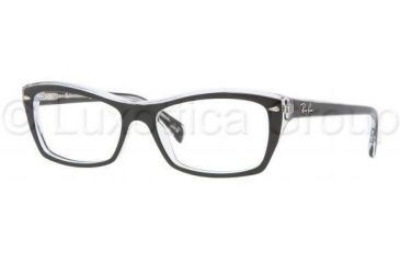 Ray-Ban RX5255 Progressive Prescription Eyeglasses 2034-5116 - Top Black On Transparent Frame
