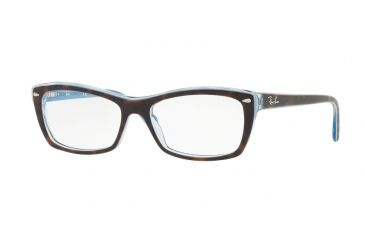 24eba2c4f8 Ray-Ban RX5255 Eyeglass Frames 5023-53 - Top Havana On Havana Blue Frame