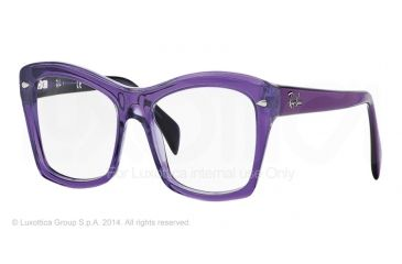 Ray-Ban RX5255 Progressive Prescription Eyeglasses 5230-51 - Shiny Trasparent Violet Frame