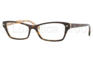 Ray-Ban RX5256 Eyeglass Frames 5057-5216 - Top Dark Havana On Beige Frame