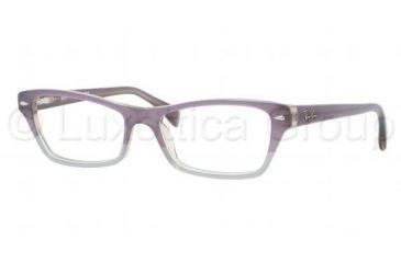 Ray-Ban RX5256 Eyeglass Frames 5107-5216 - Top Violet / Azure / Gray Frame, Demo Lens Lenses