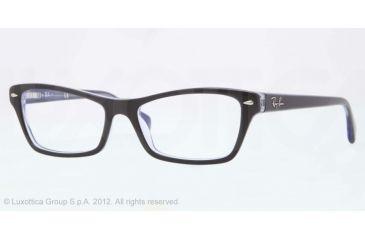 Ray-Ban RX5256 Eyeglass Frames 5190-52 - Top Black on Lilac Frame, Demo Lens Lenses