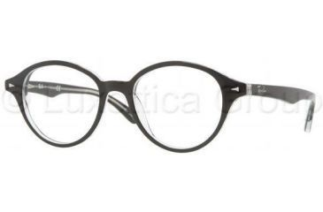 Ray-Ban RX5257 Eyeglass Frames 2034-4718 - Top Black On Transparent Frame