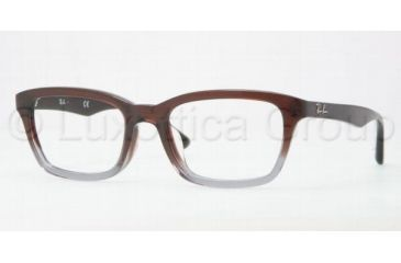 Ray-Ban RX5267F Eyeglass Frames 5055-5319 - Brown Gradient / Grey Frame, Demo Lens Lenses